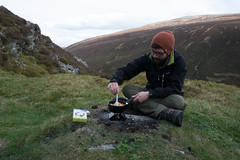 A Bite to Eat (Samwaaal) Tags: scotland highlands scottish cairngorms hiking walk landscape mountains braemar beinn abhuird glen avon ben howff secret