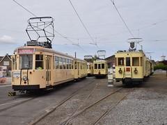 NMVB 9093+19706, 9942,A.9965 stelplaats Knokke. (eddespan (Edwin)) Tags: tram strassenbahn strasenbahn trolley streetcar nmvb se stelplaats knokke westvlaanderen trammuseum museumtram tramwaymuseum strassenbahnmuseum
