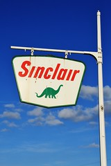 Sinclair - Trenton, Iowa (Lights in my hometown) Tags: trenton henrycounty iowa vintage old sinclair gas service filling station sign roadside dinosaur