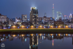 Taipei from Keelung River (kenneth chin) Tags: nikon d810 nikkor 2470f28g taiwan taipei keelung river asia yahoo google reflection city