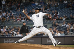 Yankees starter Luis Severino delivers a pitch against the Blue Jays. (apardavila) Tags: luisseverino mlb majorleaguebaseball newyorkyankees yankeestadium yankees yanks baseball sports