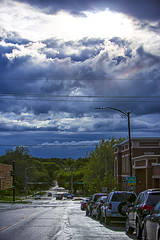 Mass St Rainbow (Kansas Poetry (Patrick)) Tags: autism lawrencekansas lawrence storm rainbow massstreet massachusettsstreet sky patrickemerson patricklovesnancy