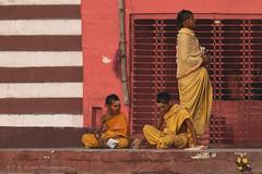 Vedic students (P K Gupta VNS) Tags: students vaidicstudents ghat ganga varanasi shore