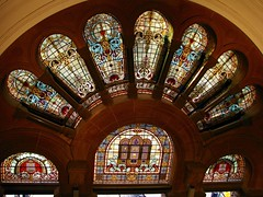 Stained glass (pianoforte) Tags: queenvictoriabuilding qvb shopping sydney sydneynsw downtown businessdistrict australia2017 australia