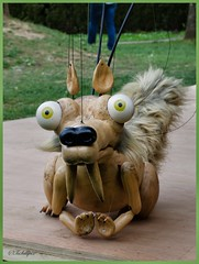 Scrat from Ice Age taken at lasauvage (tschillpix) Tags: holz wood marionette lasauvage iceage scrat