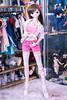 Sakura Pink Shorts Outfit (GabrielVH) Tags: 7d bjd bow brownhair camisole canon cute dd dollfie dollfiedream pantsu purpleeyes shirt shorts stockings tanktop volks flickrsafe