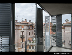 Camera con vista / Room with a view (via_parata) Tags: ohr2017 opengramroma2017 openhouseromahp openhouseroma open house roma ohrlaziocreativo studio labics città del sole tiburtina tiburtino brise soleil facade system shutters persiane balcone camera con vista architettura architecture archdaily archilovers architecturelovers