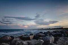 Kure Beach - North Carolina (nicklaborde) Tags: 500px sky landscape sea sunset water nature beach travel sun ocean rock evening seascape seashore outdoors dusk no person fair weather