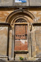Empty frames (PeteZab) Tags: window derelict frame ruin sky brick stone ornate weed peterzabulis petezab witleycourt worcestershire decay