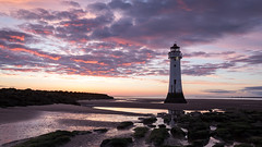A New Brighton Sunset (at the 20th attempt) (SiKenyonImages) Tags: sunset newbrighton perchrock lighthouse merseyside wirral sky fire pink blue tones