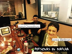 Sonia Beltran y Nazrul Chowdhury