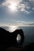 Durdle Door silhouette