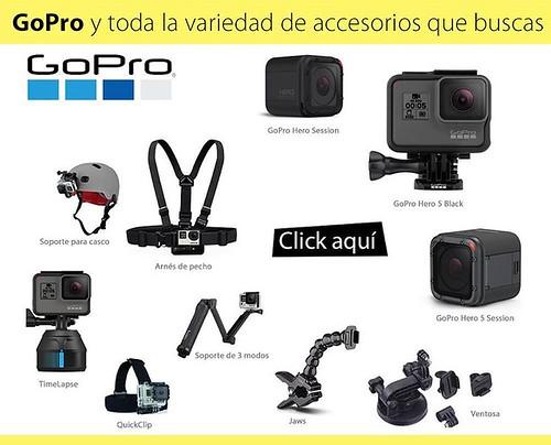 Cámaras GoPro y todos los accesorios originales que buscas los encuentras en @compudemano, #cadadiamejor. Visita nuestra tienda o llámanos Bogotá: (1) 381 9922 - Medellín: (4) 204 0707 - Cali (2) 891 2999 - Barranquilla: (5) 316 1300 - Pereira: (6) 335 94
