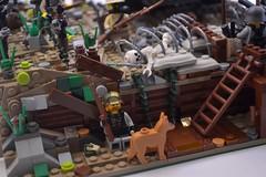 WW1 Trenches detail (Chainworm666) Tags: trenches lego moc ww1 world war barbed wire schäferhund buntfarbenanstrich stahlhelm