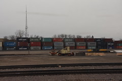 Shipping Yard (Adventurer Dustin Holmes) Tags: 2017 shippingcontainer shippingcontainers shippingyard stacked