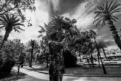 DSC00730 (Damir Govorcin Photography) Tags: statue rememberance anzac day 2017 sydney burwood park war memorial trees sky clouds lest we forget zeiss 1635mm sony a7rii natural light blackwhite monochrome wide angle