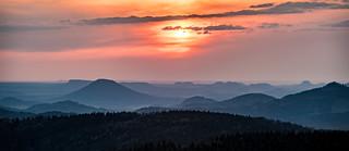 Blick ins Elbsandsteingebirge