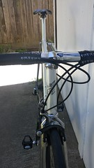 20170423_171619 (AR Cycles) Tags: ar cycles custom columbus true temper ox platinum kva stainless steel henry james lugs lugged road bike mechanical shimano dura ace pearl white paint polished fillet stem chrome internal cable routing