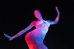 Bliss Dance in the Night (Morten Kirk) Tags: mortenkirk morten kirk las vegas nevada usa 2017 holiday vacation bliss dance statue sculpture night lights