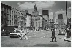Midtown Manhattan, 2nd Avenue / New York, 1961 (cobravictor) Tags: chryslerbuilding 2ndavenue newyorkcity midtownmanhattan street oldcars vintage skyscrapers skyline 60s 1961