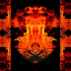 """Fire art"" (jacquelineruddell) Tags: bonfire abstract graphicdesign art photographyandart fire creativedesign creativephotography unusualphotography"