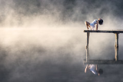 (dimitryroulland) Tags: nikon d600 85mm 18 dimitry roulland natural light lake morning fog france nature perigord dordogne dance dancer gym gymnast gymnastics performer art