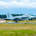 EA-18G Touching Past the LSO Shack
