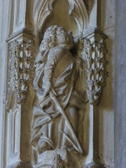 St Philip? (Aidan McRae Thomson) Tags: worcester cathedral worcestershire medieval carving statue sculpture
