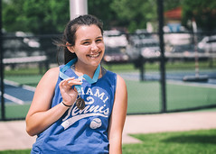 Bokeh/Happiness (SoonerChick14) Tags: tennis medal cy365 potd caylee happy