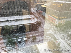 May 8, 2017 - Hail on downtown Denver streets. (Jay Winkelhake)