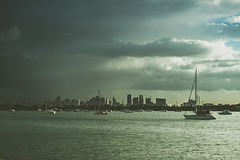 incoming (Liza Williams) Tags: contrast fineartphotography movingin ominous foreboding view city skyline sailing ships boats sailboat lightroom dark weather miami florida travel northbayvillage ocean water storm
