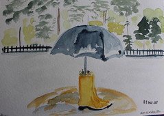 8- An Umbrella (cheesemoopsie) Tags: aquarelle watercolor sketch croquis