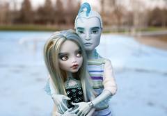 MH Couple (MayYeo) Tags: monster high mh repaint laguna gillington doll