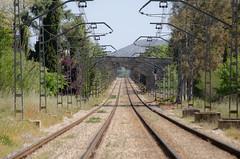 Railroad to infinity (Santini1972) Tags: railroad vanishing train point nikond5100 catalonia europe abstract transport
