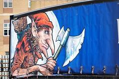 Hobgoblin (tim ellis) Tags: bfm0417 hobgoblin wytchwood beer axe quiver arrows lorry wolverhampton uk
