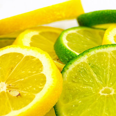 Lemons and limes (Impossible to Reproduce) Tags: citrus color colour concept cut diet eat food fresh fruit healthy isolated juicy lemon lime motivation nutrition slice slices white yellow