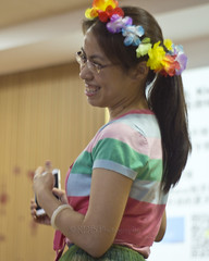 Moana Movie Event 02 (C & R Driver-Burgess) Tags: child boy girl craft flower pipecleaner tissue paper teacher group pink pacific chinese asia preteen preschooler