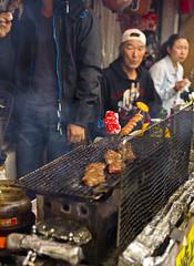 Kobe beef (sam.naylor) Tags: street shop food shopkeeper chef stall stand market kyoto japan asia