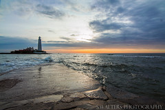 St Mary's Lighthouse (sidrog28) Tags: lighthouse light sun walk clouds dawn sea rocks st marys nikon whitley bay newcastle photography photo