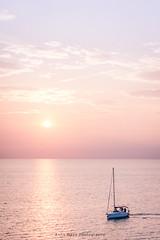 sunset ride (a.maye) Tags: piran sea sunset boat sun water slovenia pirano pink purple blue