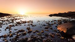 Into Silent Slumber (Kurt Evensen) Tags: norway calm vivid rogaland water sea sky seascape kelpandseeaweed weather sunset shore