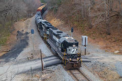 Classic Southern scene (grady.mckinley) Tags: southern railway azalea north carolina blue ridge parkway norfolk highhood signals railroad