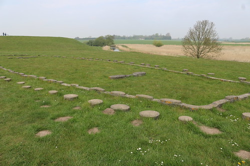 Outline of ship building as of Trelleborg Ring Fort.