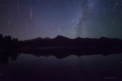 2016 Perseid Meteor Shower (Will Shieh) Tags: 2016 perseid meteor shower milky way reflection lily lake lightvision willshieh samyang 14mm rokinon stars astro rmnp long exposure nature outdoors landscape scenic travel vacation tourism sky space canon feisol mountains colorado co beautiful comet rocky mountain national park estespark