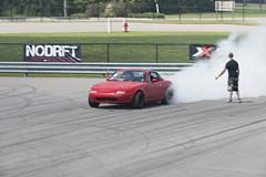 Burnout (Find The Apex) Tags: nolamotorsportspark nodrft drifting drift cars automotive automotivephotography mazdamx5miata mazda miata mazdamiata eunosroadster mazdaroadster