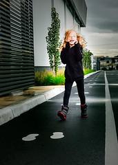 I walk the line (melizzajane) Tags: girl walking footsteps joy outdoor victoria vic australia nikon nikond5300 d5300