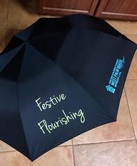 Festive Flourishing (LarryJay99 ) Tags: florida westpalmbeach black iphone7 umbrella photostream logo iphone7plusbackdualcamera399mmf18