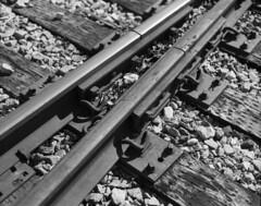 Railroad Track Detail (James Feller) Tags: pentax67ii smcpentax67105mmf24 aristaeduultra100 d76 tf5 blackandwhite bw