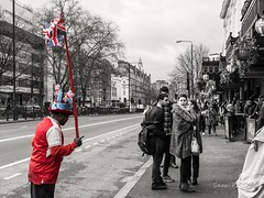 Masked man in the crowd (penn.sara) Tags: man people street streetphotography london attraction photo photography phography photographer photooftheday volgoworld life enjoy travel arsenal masked crowd