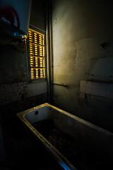 Boarding school. (AloysiaVanTodd) Tags: urbex escape explore windows light dismal dark bath boarding school sunlight